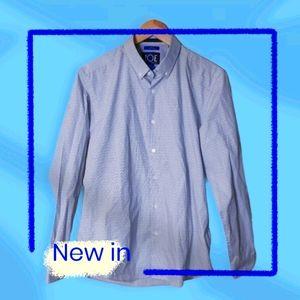 Joseph Abboud recycled materials blue dress shirt